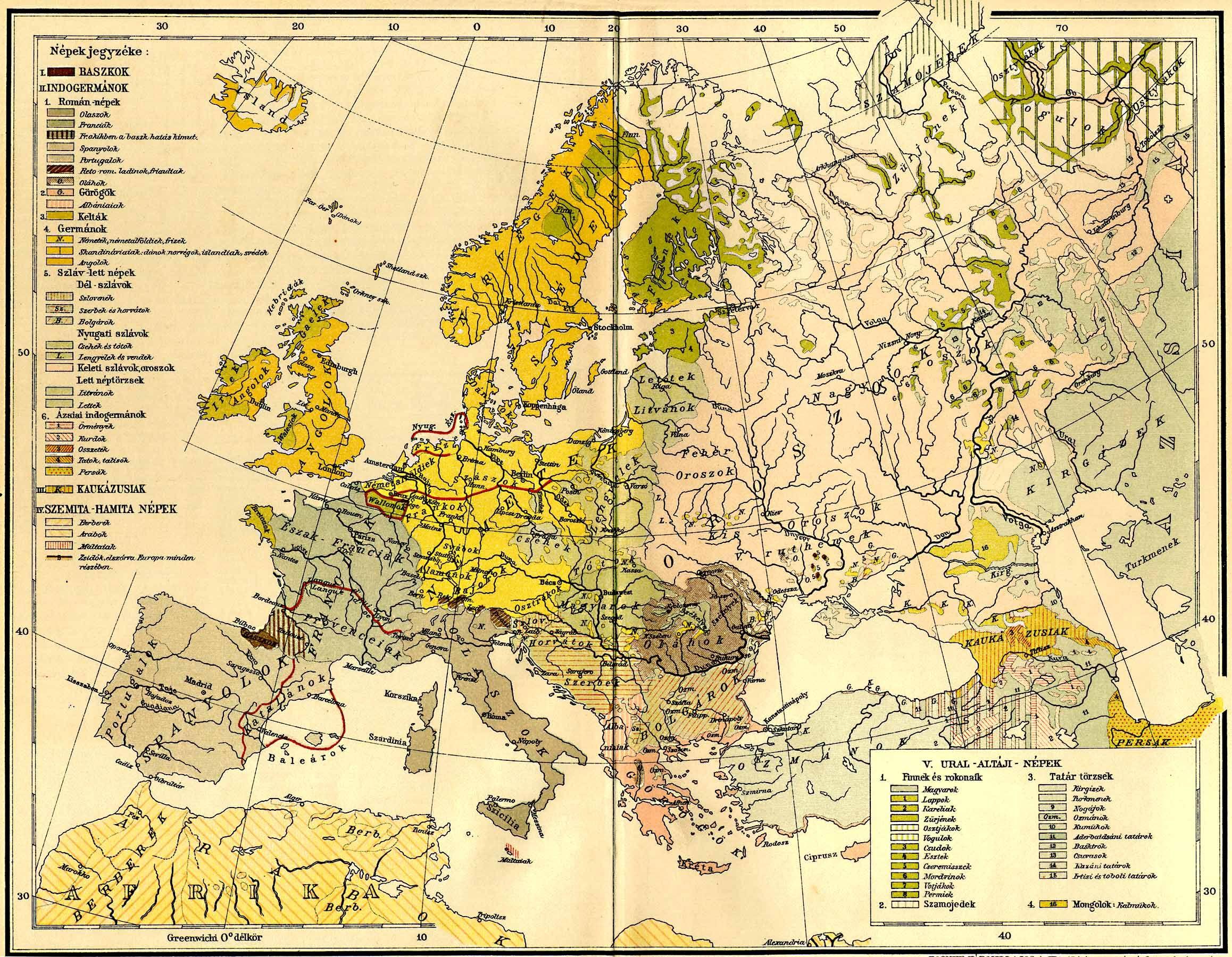 Europa Neprajzi Terkepe